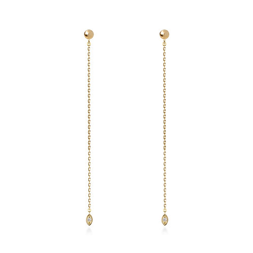 Dancing Seed Chain Earrings L