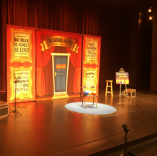 Kenny's stage show set