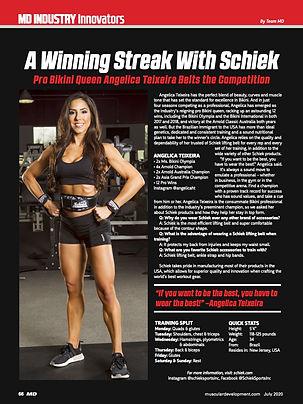 Angelica Texeira Muscular Development Schiek Belt
