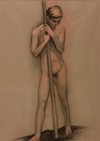 Standing Male Nude