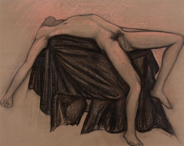 Fully Stretched Male Nude