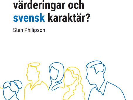 Sten Philipson har skrivit ett kapitel i en  bok om svenska värderingar.