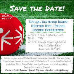 Save the Date! Unified Soccer Experience