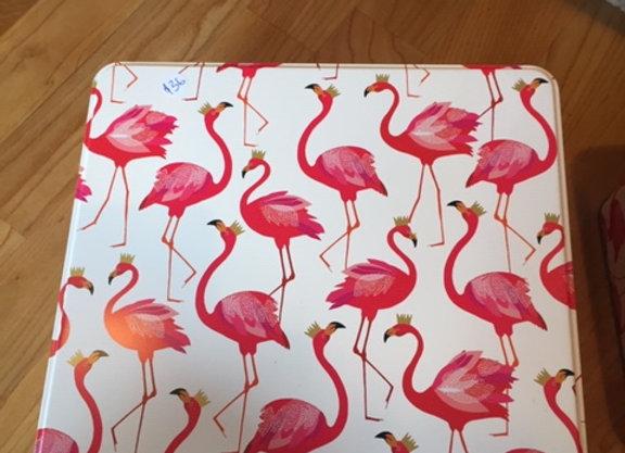 Flamingo tin box large