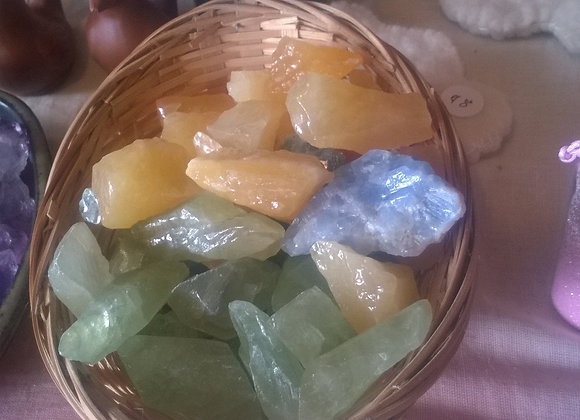 Calcite - blue, green, orange