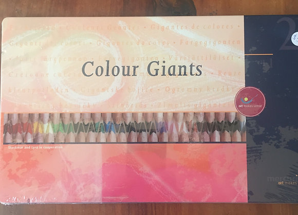 Colour giants - Stockmar pencils in a tin, 24pc
