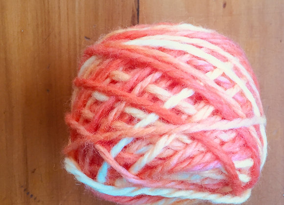 Light red and white wool -  14ply
