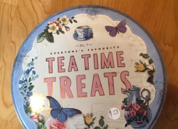 Tea time treats tin