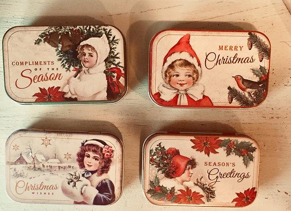 Retro Christmas tin