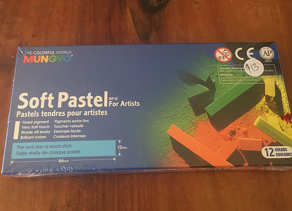 Soft pastels, box of 12