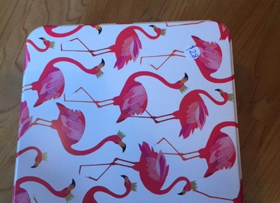 Flamingo tin