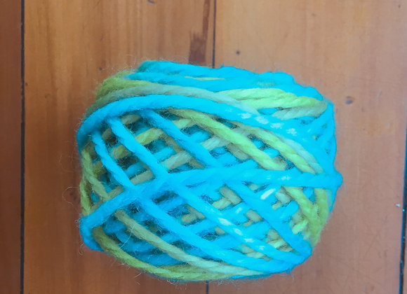 Green and blue wool -  14ply