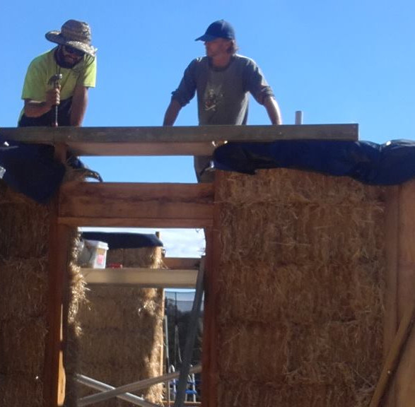 Straw Bale Eungai NSW under construction