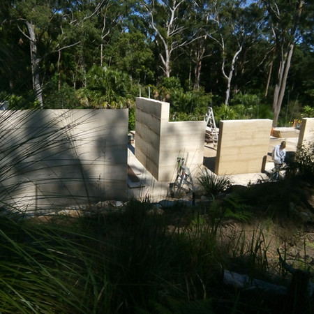 Rammed Earth Rural NSW under construction