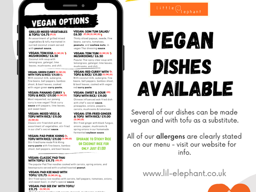 Vegan Dishes Available