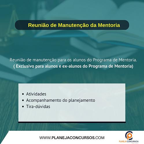 1 (uma) Reunião de Manutenção do Programa de Mentoria