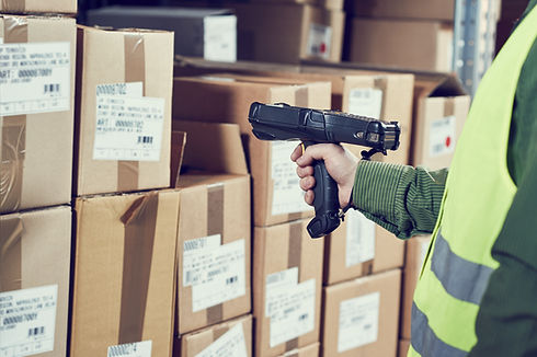 Warehouse Management System. Worker with