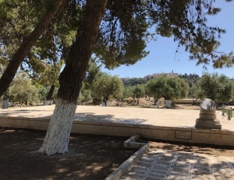 A shady spot on the Temple Mount