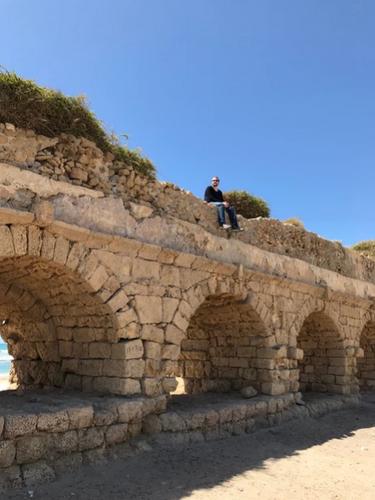 Roman aqueduct at Caesarea.
