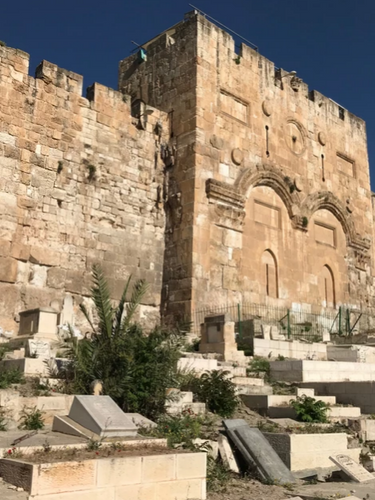 Closed up Eastern Gate to the Temple Mount.
