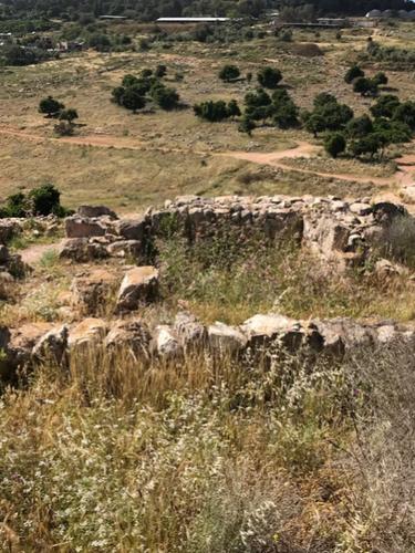 Ruins at Yodfat looking north.