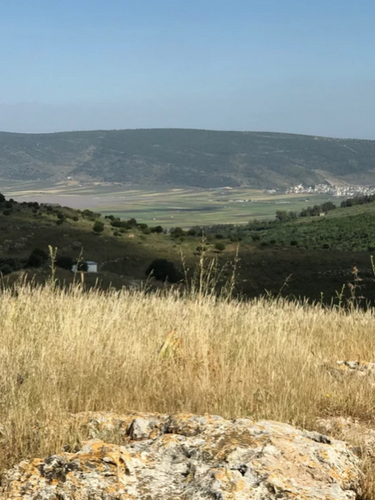 A view of the surrounding hills from Yodfat.