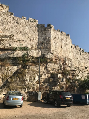 Ottoman-built northern wall of the Old City