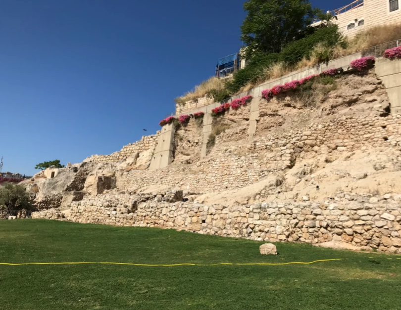 Part of the First Wall of Ancient Jerusalem