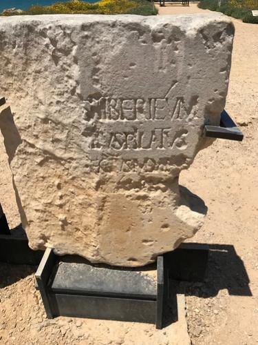The Pontius Pilate stone.