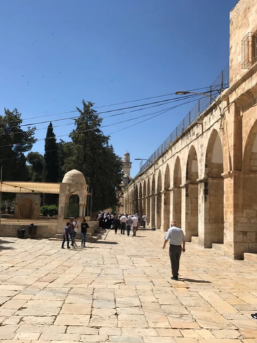 Looking south along the eastern side of the Temple Mount.