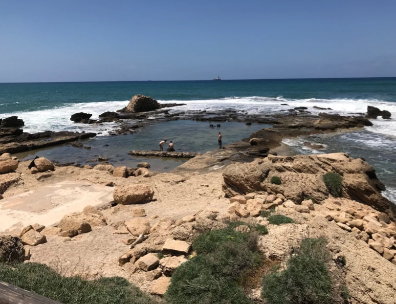 Remnants of the harbor at Caesarea.