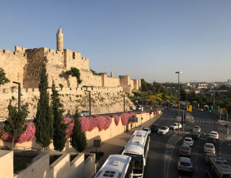 Tower of David and Hinnom Valley
