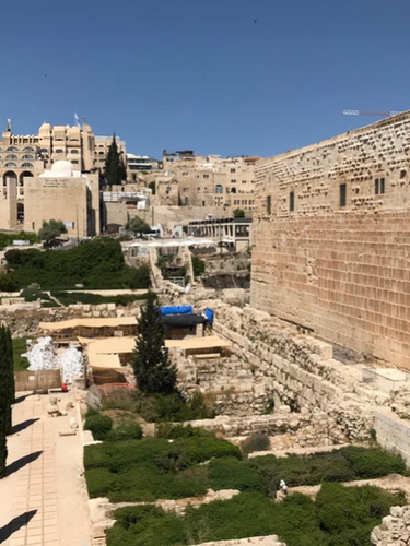 Today inside of the Tower of David