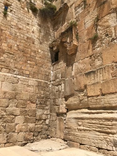 Close up of half of Double Gate still exposed