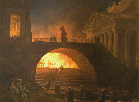 The Burning of Rome and Jerusalem were Six Years Apart:  Was there a Connection?