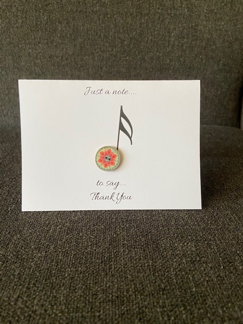 (6) Music Note Thank You Cards