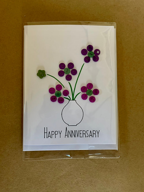 Individually-wrapped Anniversary Button Cards