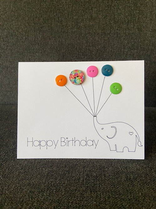 Elephant with 5 Balloons