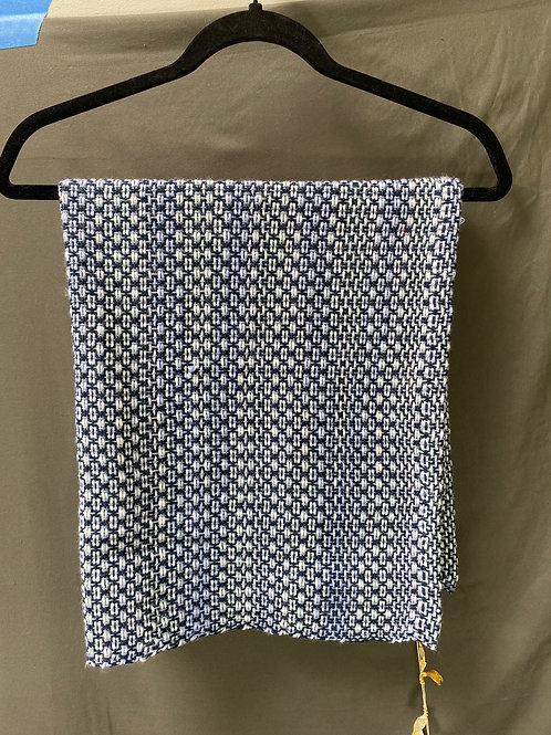 Simple Weave Multiblue & White Blanket