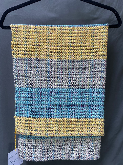 Wide Stripe Rayon and Cotton Multicolor Blanket