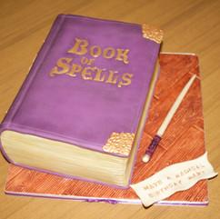 Harry Potter inspired 'Book of Spells' cake
