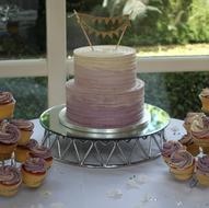 Lavender ombre buttercream wedding cake