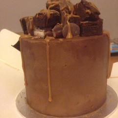Chocolate indulgence birthday cake.