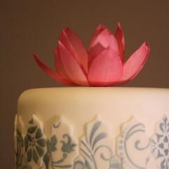 Sugar lotus and moroccan tiles detail