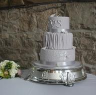 Grey and silver wedding cake