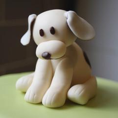 Fondant dog figure