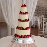 Fresh berries wedding cake