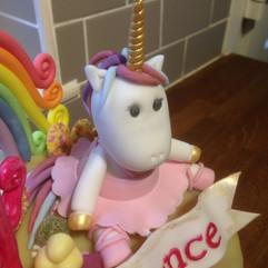 Unicorn ballerina fondant figurine.
