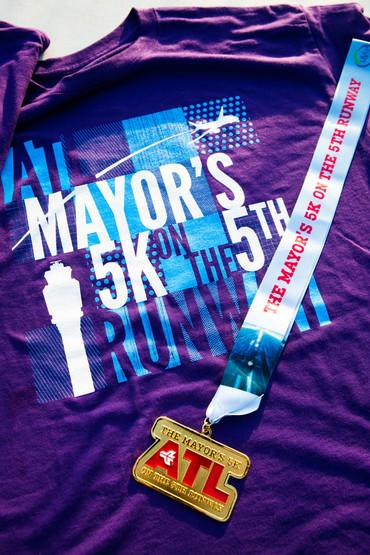 ATL Mayor's 5K Shirt and Medal