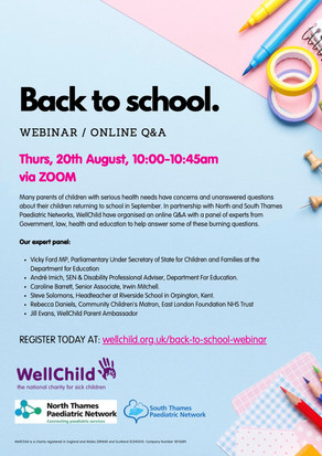 Back To School - webinar / online Q & A